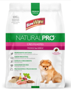 Ração Baw Waw Natural Pro para cães filhotes