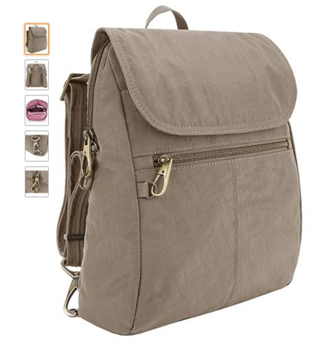 Mochila Travelon fina bagagem antifurto