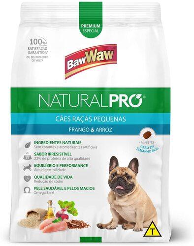 Ração Baw Baw Pro cães de raça pequena