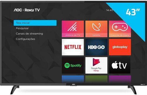 Smart TV LED 43 Full HD Roku TV FHD (1)
